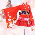 Cosplay women's wear suit goods in stock Over 14 years old Dress set, Dress Set + Mini Skirt Set game L M S XL XXL XXXL Zixiao Lovely wind and wind