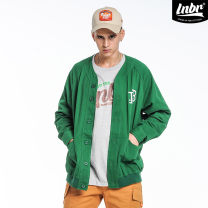 Jacket LIGHTNING BEAR Youth fashion green S M L XL 2XL 3XL 4XL thin easy Other leisure autumn Cotton 100% Long sleeves Wear out Baseball collar American leisure youth routine Single breasted Rib hem washing Closing sleeve other cotton Autumn of 2018 Mingji thread patch bag cotton More than 95%