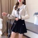 Fashion suit Winter 2020 S,M,L Apricot Top + coffee skirt, white top + black skirt, single apricot top, single white top, single coffee skirt, single black skirt