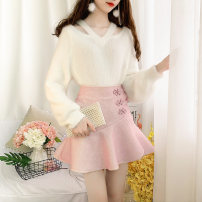 Fashion suit Winter of 2019 S,M,L White top + pink skirt, white top + green skirt, white top + yellow skirt 18-25 years old Other / other 81% (inclusive) - 90% (inclusive)