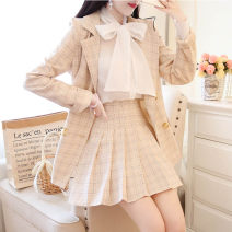Lace / Chiffon Spring 2021 S,M,L,XL Long sleeves Sweet Cardigan Three piece set Self cultivation V-neck other routine princess