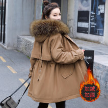 Women's large Winter 2020 Brown Black Large M [recommended less than 100 kg] large L [recommended 100-115 kg] Large XL [recommended 115-130 kg] large 2XL [recommended 130-145 kg] large 3XL [recommended 145-160 kg] large 4XL [recommended 160-180 kg] cotton-padded clothes singleton  commute easy Hood