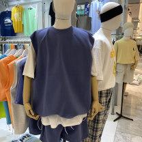 Vest / vest Youth fashion Others Average size Gray, black, orange, yellow, blue, navy Other leisure easy Sweat vest
