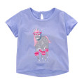T-shirt wathet Other / other female summer Short sleeve Crew neck leisure time There are models in the real shooting nothing cotton Cartoon animation Cotton 95% other 5% Class A Sweat absorption