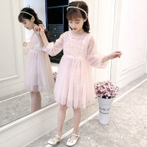 Dress Off white, pink female Other / other 110cm,120cm,130cm,140cm,150cm,160cm Other 100% spring Korean version Long sleeves Solid color organza  Cake skirt Xls510 & 01 yarn skirt Class B Three, four, five, six, seven, eight, nine, ten, eleven Chinese Mainland Zhejiang Province
