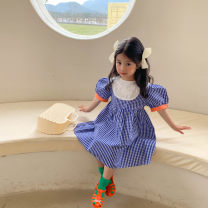 Dress Blue lattice female Other / other 80cm, 90cm, 110cm, 120cm, 130cm, 100cm (model size) Other 100% summer Korean version lattice other Princess Dress Class B 3 years, 18 months, 5 years, 7 years, 6 years, 2 years, 4 years, 12 months Chinese Mainland