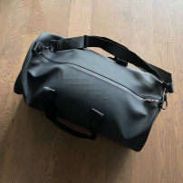 Men's bag Inclined shoulder bag PU Other / other black One shoulder portable messenger soft surface