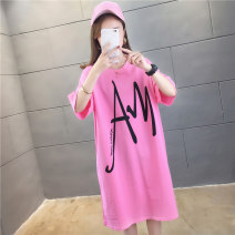 T-shirt Rose red white black M L XL 2XL Summer 2020 Short sleeve Crew neck easy Medium length routine commute polyester fiber 51% (inclusive) - 70% (inclusive) 18-24 years old Korean version originality letter Love of butterfly printing Polyester 65% Cotton 30% polyurethane elastic fiber (spandex) 5%