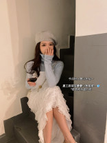 Fashion suit Spring 2021 Average size Blue base shirt , Cream cake skirt , Black cake skirt ( Net free) 18-25 years old B - ANLI - C756 31% (inclusive) - 50% (inclusive) cotton