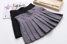 skirt Summer of 2018 XS S M L Black grey longuette Pleated skirt Solid color h1154 81% (inclusive) - 90% (inclusive) other other Three dimensional decoration splicing