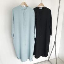 shirt Light blue, black Average size other 96% and above Long sleeves Medium length
