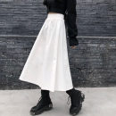skirt Winter 2020 S M L XL White black longuette commute High waist A-line skirt Solid color 18-24 years old KTF3712588 More than 95% Kotaff cotton Korean version Cotton 100% Exclusive payment of tmall