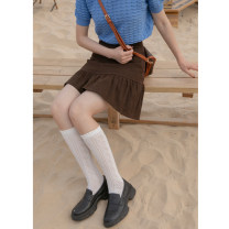 skirt Spring 2021 XS,S,M,L Red, dark coffee, red pre-sale, dark coffee pre-sale Short skirt street High waist A-line skirt Solid color Type A 18-24 years old W5213 91% (inclusive) - 95% (inclusive) Hello, canon cotton