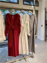 Dress Autumn of 2019 Red, gray, ivory 0, 1 91% (inclusive) - 95% (inclusive) cotton