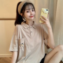 Polo shirt Summer 2021 Short sleeve Miss Song cotton routine AA724 routine khaki easy M L XL 30% and below Pure e-commerce (online only) Cartoon animation