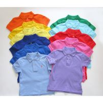 T-shirt Other / other neutral summer Lapel and pointed collar No model Pure cotton (100% cotton content) Solid color Cotton 100% 2, 3, 4, 5, 6, 7, 8, 9, 10, 11, 12, 13, 14 years old