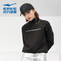 Sportswear / Pullover 2XL 3XL s (adult) m (adult) l (adult) XL (adult) Erke / hongxingerke female Socket stand collar Autumn 2020 Brand logo design letter Cotton polyester Sports & Leisure UV resistant and warm Women's training yes