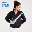 Sports jacket / jacket Erke / hongxingerke female S (adult), m (adult), l (adult), XL (adult), 2XL, 3XL Cherry Blossom powder / Begonia powder, black Autumn 2020 stand collar zipper Color contrast, brand logo Sports & Leisure Ultra light, windproof Sports life
