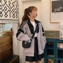 short coat Autumn of 2019 S M L XL Grey light blue Long sleeves have cash less than that is registered in the accounts singleton  easy Love Ge Sha 96% and above polyester fiber Polyester 100% Pure e-commerce (online only)