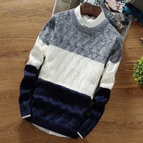 T-shirt / sweater LPW Youth fashion M L XL XXL XXXL thickening Socket Crew neck Long sleeves L46 winter Slim fit 2019 Polyester 100% leisure time Japanese Retro youth routine Geometric pattern Autumn of 2019 No iron treatment Coarse wool (8, 6) Pure e-commerce (online only) other