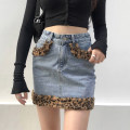 skirt Autumn 2020 S,M,L,XL Blue, dark blue, brown Short skirt street High waist other Leopard Print Type H 18-24 years old SWD6929W0I More than 95% other cotton Resin fixation Europe and America