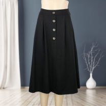 Middle aged and old women's wear Spring 2021 black XL 2XL 3XL Half open collar routine Button other Other 100% 96% and above Same model in shopping mall (sold online and offline)