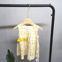 Dress female Zimbe Cotton 94% polyurethane elastic fiber (spandex) 6% winter leisure time Skirt / vest Dot cotton other Class A 12 months, 3 years, 18 months, 9 months, 2 years, 4 years Chinese Mainland Hebei Province Xingtai Picture color yellow dots 110, 100, 90, 80