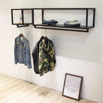 Clothing display rack clothing iron Hang it on the wall Other Official standard