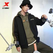 Sports jacket / jacket XTEP / Tebu male S (adult), m (adult), l (adult), XL (adult), 2XL, 3XL Black, army green Spring 2021 stand collar zipper Brand logo Sports & Leisure ventilation Sports life