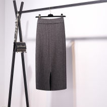 skirt Winter of 2018 Apricot, black, dark grey Middle-skirt commute High waist skirt Solid color Type H 18-24 years old 51% (inclusive) - 70% (inclusive) knitting Other / other polyester fiber Korean version 251g / m ^ 2 (including) - 300g / m ^ 2 (including)