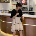 Dress Spring 2021 Picture color S M L XL Middle-skirt singleton  Short sleeve commute Crew neck Loose waist other Socket Irregular skirt routine Others 18-24 years old Type H Dorothy Korean version Stitching Sequin gauze More than 95% other Other 100% Pure e-commerce (online only)
