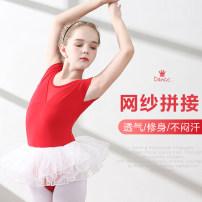 Children's performance clothes female 110cm,120cm,130cm,140cm,150cm,160cm,170cm A lot of dancing Class B F0158 short sleeve f0198 long sleeve Ballet Cotton 95% polyurethane elastic fiber (spandex) 5% Pure cotton (100% content)