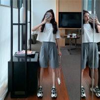 shoe stretcher White T-shirt + grey pants s white T-shirt + grey pants m white T-shirt + grey pants l white T-shirt + grey Pants XL White T-Shirt + grey pants 2XL LSK-DDD5253 Lai Shiku