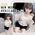 suit Other / other white 110cm,100cm,130cm,120cm,90cm,80cm female summer fashion Two piece set 2 pieces Thin money There are models in the real shooting Socket nothing Solid color silk children Expression of love Class A 18 months, 2 years old, 3 years old, 4 years old, 5 years old, 6 years old