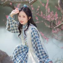Hanfu 31% (inclusive) - 50% (inclusive) Spring 2021 Cream Beizi spot jade sapphire blue spot cream Beizi fifth batch 5.5 around hair jade sapphire blue dress fifth batch 5.5 around hair S M L cotton