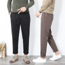 Casual pants Other Youth fashion routine trousers Self cultivation Other leisure Micro bullet 171 autumn teenagers Exquisite Korean style 2019 middle-waisted Little feet Tapered pants Pocket decoration washing Solid color plain cloth Brown, black, dark grey, grey