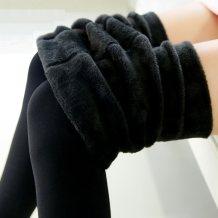 Leggings Winter 2017 black Average size Plush trousers JSQH16D0152 18-24 years old