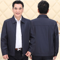 Jacket New European clothes other Lapel, stand collar L [recommended 100-125 kg], XL [recommended 125-140 kg], 2XL [recommended 140-155 kg], 3XL [recommended 155-170 kg] routine standard Other leisure autumn Ly65-1101 solid color casual jacket Long sleeves Wear out Business Casual middle age routine