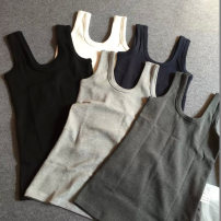 Vest sling Spring 2021 Black, Navy, white, light gray, dark gray, rose red, sapphire blue One size fits all, non matte L, non matte XXL, non matte XL singleton  routine Self cultivation Versatile other Solid color 18-24 years old 91% (inclusive) - 95% (inclusive) cotton Other / other