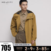 Windbreaker Jinlv zhenghei Jinlv presale 1 zhenghei presale 1 Me&City Fashion City 165/88A 170/92A 175/96A 180/100A Single breasted routine standard go to work spring youth Hood (not detachable) Business Casual Polyester 94% polyamide 6% Solid color Spring 2021