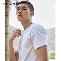 T-shirt Fashion City White off white black (100% cotton) haze rose routine 180/100A 165/88A 170/92A 175/96A 185/104B Me&City Short sleeve Crew neck standard Other leisure Four seasons Cotton 95% polyurethane elastic fiber (spandex) 5% youth routine tide Cotton wool Summer 2017 Solid color