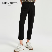 Jeans Fashion City Me&City 165/72A 170/74A 170/76A 170/78A 175/80A 175/84A black routine Micro bomb Regular denim Ninth pants Cotton 100% youth middle-waisted Basic public zipper Spring of 2019 Same model in shopping mall (sold online and offline)