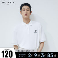 Polo shirt Me&City Fashion City thin Bleach positive black 180/100A 165/88A 170/92A 175/96A 185/104B standard go to work summer Short sleeve Business Casual routine youth Cotton 100% Animal design cotton Embroidery Embroidery Summer 2021 Same model in shopping mall (sold online and offline)