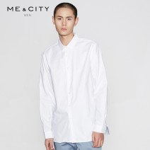 shirt Fashion City Me&City 165/88A 170/92A 175/96A 180/100A 185/104B 190/108B Dark blue light blue dark green bleach light gray normal black routine square neck Long sleeves standard Other leisure Four seasons youth Cotton 100% Youthful vigor 2018 Solid color Spring of 2018