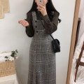 Dress Winter of 2019 Picture color S,M,L,XL Mid length dress singleton  Sleeveless commute square neck High waist lattice zipper A-line skirt other Others Type A Other / other Korean version Wool