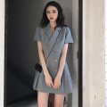 suit Summer of 2019 Grey bean green S M L XL Short sleeve Medium length easy Polo collar double-breasted routine Solid color 18-24 years old 96% and above other Infinity Other 100% Pure e-commerce (online only)