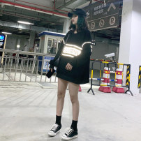 Sweater / sweater Autumn of 2019 Black green M L XL XXL Long sleeves Medium length Socket singleton  Thin money Crew neck easy street letter 18-24 years old 51% (inclusive) - 70% (inclusive) Spinning cool polyester fiber S-Q41 printing cotton Cotton liner Hip hop