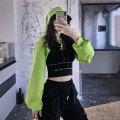 Sweater / sweater Autumn 2020 [suit] Fluorescent Green Hoodie + black vest [suit] Fluorescent Green Hoodie + white vest [single piece] Fluorescent Green Hoodie [Terry Cotton] [single piece] black vest [including bra pad] [single piece] white vest [including bra pad] M L XL average size Long sleeves