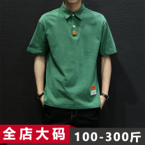 Polo shirt Jiusenbao Other leisure Youth fashion routine easy Polo-002 Cotton 100% Summer 2021 XL 2XL 3XL 4XL 5XL 6XL 7XL 8XL 9XL Black Polo Shirt (tx008) green polo shirt (tx008) White Polo Shirt (tx008)