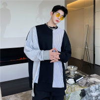 Sweater Fashion City Others black M,L,XL stripe Socket routine Crew neck spring Straight cylinder leisure time teenagers tide routine other other Rib bottom pendulum No iron treatment
